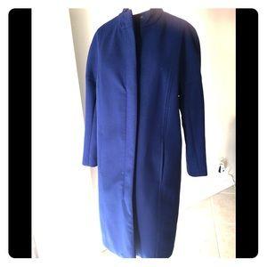 Jackets & Blazers - Royal Blue Wool blend coat. Size 8 Full length